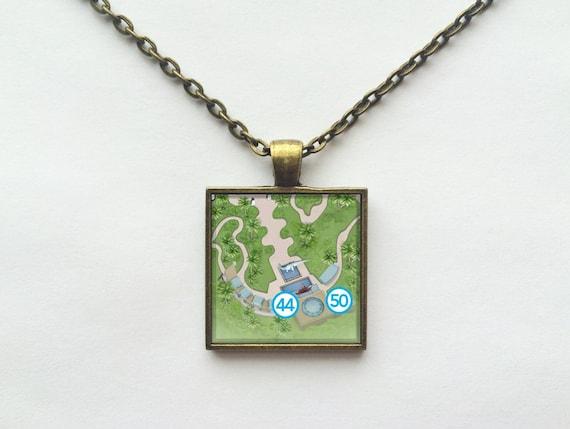 DINOSAUR Necklace from Walt Disney World Animal Kingdom Park Map