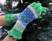 Fair Isle Colorwork Stranded Gloves by Dom Klary
