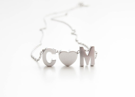 Personalized Necklace  Silver Initial Necklace   Initial Necklace   Personalized Jewelry   Bridesmaids Jewelry.