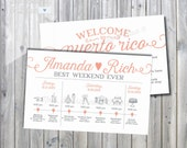 Printable Pretty Simple Multi-Day Wedding Itinerary with Welcome Letter