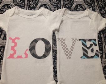Iron On Twins LOVE DIY