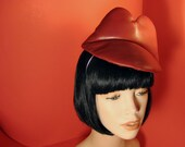 Valentines Day -  Red Leather KISS ME HAT