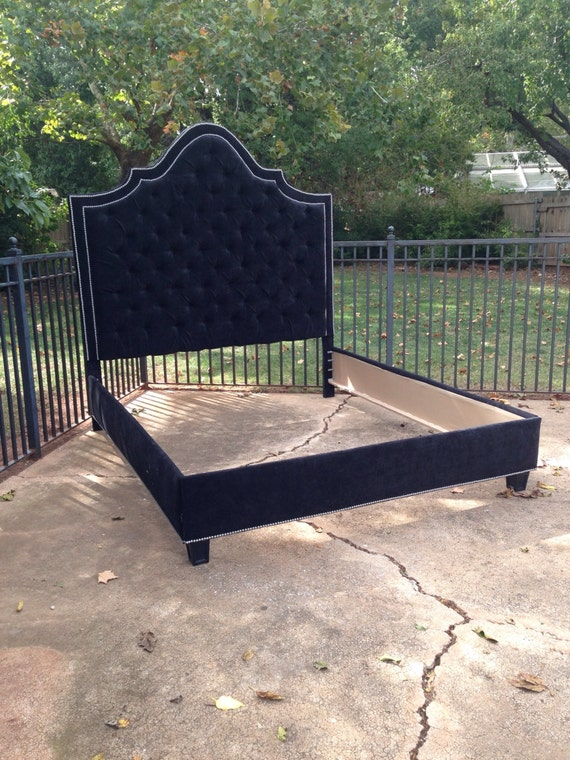 Tufted Bed Headboard Footboard Rails Made To By