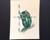 """Wisely Curious, 6""""x8"""" Original Watercolor Painting"""