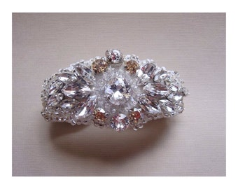 Crystal Bridal Cuff, Bridal Bracelet, Crystal Bracelet, Swarovski Cuff Bracelet
