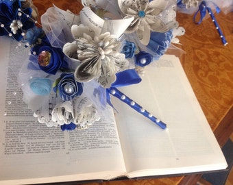 Kusudama Flower Wedding Suite Two Alternative Sheet Music Bouquets and Two Corsages or Lapels Included