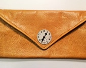 Leather Clock Clutch