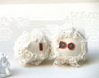 Cake Topper,I  and DO Wedding  cake topper, Cute  personalizes cake topper, Shabby chic stones, Lace stones, Wedding cake topper rustic.