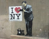 Banksy Poster Print  - I Heart New York - Multiple Paper Sizes