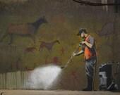 Banksy Poster Print  - Whitewash - Multiple Paper Sizes
