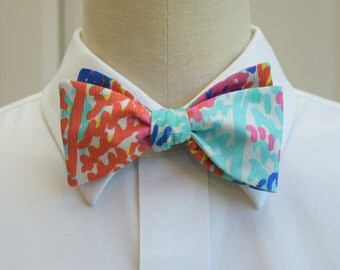 Lilly Bow Tie in multi Electric feel  (self-tie)