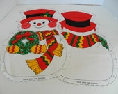 Christmas  Snowman Fabric Sewing Panel  pre cut Stuffed Pillow Toy