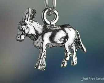 Burro Donkey or Mule Charm Sterling Silver Animal or Democrat Symbol