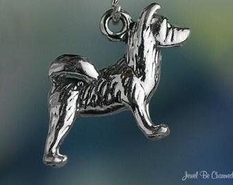 Akita Charm Sterling Silver Dog Breed Purebred Akitas 3D Solid .925