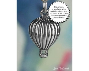 Hot Air Balloon Charm Sterling Silver Ballooning Adventure Vacation