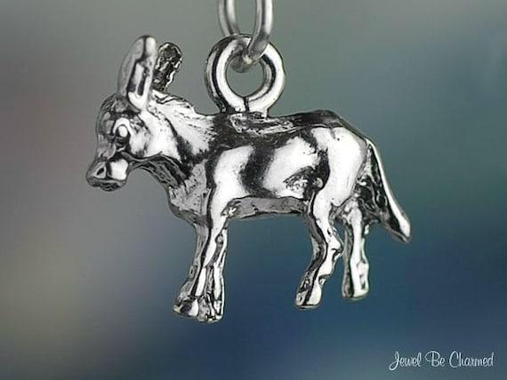 Burro Donkey or Mule Charm Sterling Silver Animal or Democrat Symbol