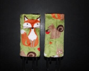 Car Seat Strap Covers Fox Minky