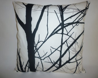 "Funky Pillow Cover Retro Black Grey White Tree Designer Throw DecorativeCushion Cover. Pillowcase Sham Slip.Scatter. 1 x 16"" (40cm)"