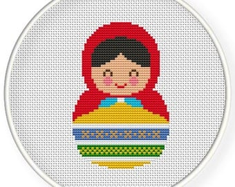 Instant Download,Free shipping,Cross stitch pattern, Cross-StitchPDF,Russian Doll,Matryoshka  Babushkas,zxxc0559