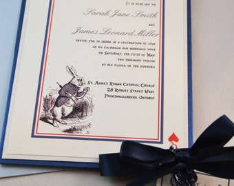 Printable PDF Alice in Wonderland Wedding Invitations for the DIY Bride