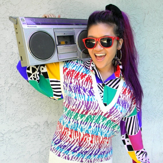 Fresh Prince Sweater Vintage 80s Ugly Sweater Party Sweater