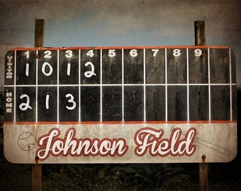 Vintage Baseball Scoreboard Photo Print ,Decorating Ideas, Wall Decor, Wall Art,  Kids Room, Nursery Ideas, Gift Ideas,
