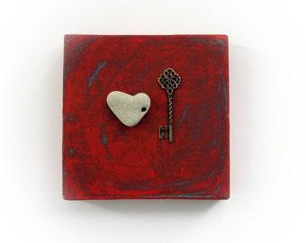 OOAK  Gift for Him - Gift for Boyfriend - Love Gift for a guy - Gift for Girlfriend - Love GIFT FOR her -the key to my heart - S32