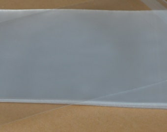 Clear Resealable Bags, 4 3/4 x 6 3/4 , 50 Count, Cello Sleeves, Resealable Poly Bags, Polypropylene Bags, Card Packaging