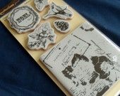 Clearance BN Merry Christmas Noel Cardinal BN Cling Stamps