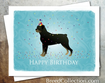 Rottweiler Dog Birthday Card from the Breed Collection - Digital Download Printable