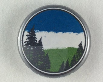 "1"" Button - Cascadia Sky"