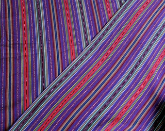 Guatemalan Fabric in Cotton Candy Stripe