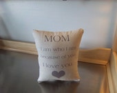 Mom birthday gift pillow mom gift love quote throw pillow sentimental gift I love you mom popular gift  minimalist cotton canvas cushion