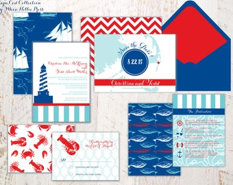 Beach/Cape Cod/Maine/Lighthouse/Seashore Wedding Invitations