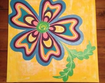 "Original Painting ""Bailey"" 20"" x 20"""