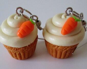 Carrot Cake Cupcake Earrings