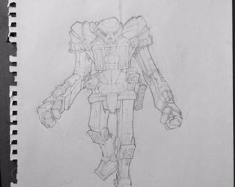 Original Robot Drawing 1