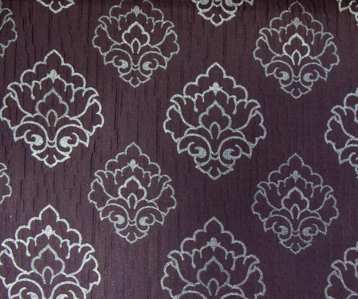 Purple damask za fabric by the yard curtain fabric upholstery for Purple upholstery fabric