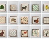 Woodland Nursery Art l Choose (15) FIFTEEN of our Custom Designs 5x5 Nursery Decor Nursery Art