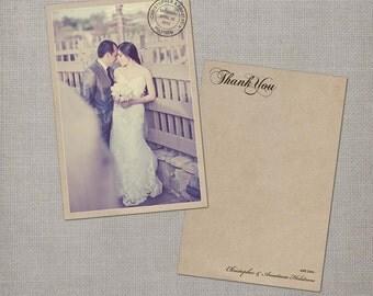 """Wedding Thank You Cards, Thank You Cards, Thank You Note Cards, Vintage cards, Thank you card, Vintage Thank You Card - the """"Anastasia"""""""