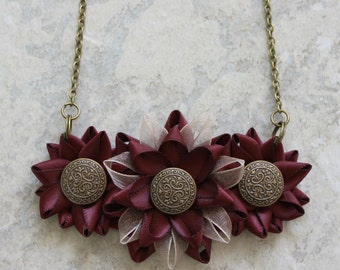 Burgundy Necklace, Burgundy Jewelry, Burgundy Wedding Jewelry, Burgundy Bridesmaid Jewelry, Brownish Red, Dark Wine, Burgundy Statement