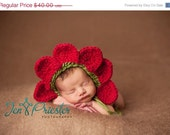 Flower Petal bonnet, newborn flower hat.. baby hat... newborn photography prop....Newborn photo prop...20% off with code VALEN1 at checkout