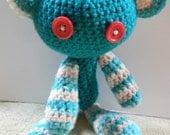 Crochet Toy Teddy Bear Love Valentine's Day Easter Birthday Shower Heart