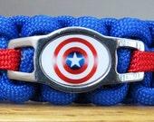 Captain America Cat Collar, Paracord Collar