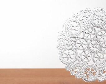 silver metallic doilies set of 10