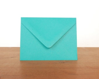 turquoise A2 envelopes: set of 10, blank