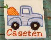 Boys easter tee with truck and carrot by gigibabies, tshirt, outfit, toddler, seersucker