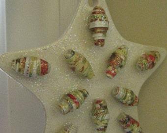 Paper Bead Christmas Ornament - Star