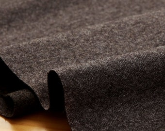 wide wool fabric 1yard (59 x 36 inches) 65245 charcoal color