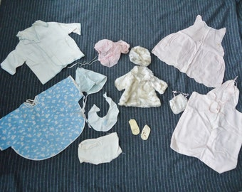 Lot of Vintage 1950's Baby Girls Infant DOLL Clothing Lot
